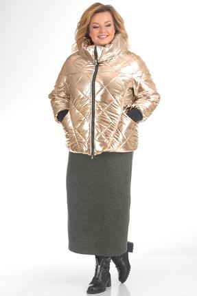 Купить Куртка Pretty 631 золотистый, Куртки, 631, золотистый, 100% полиэстр, Мультисезон