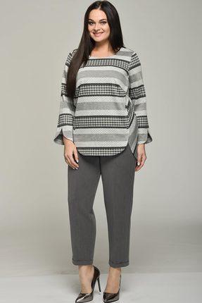 Купить Комплект брючный Lady Style Classic 1638-1 серый, Брючные, 1638-1, серый, Джемпер: ПЭ 62%+Вискоза 38% Брюки: ПЭ 80%+Вискоза 16%+ПУ 4%, Мультисезон