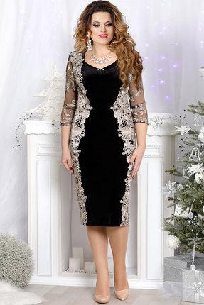 Купить Платье Mira Fashion 4362 чёрный+золото, Платья, 4362, чёрный+золото, ПЭ - 64%; Спандекс - 2%; Вискоза - 34%, Мультисезон