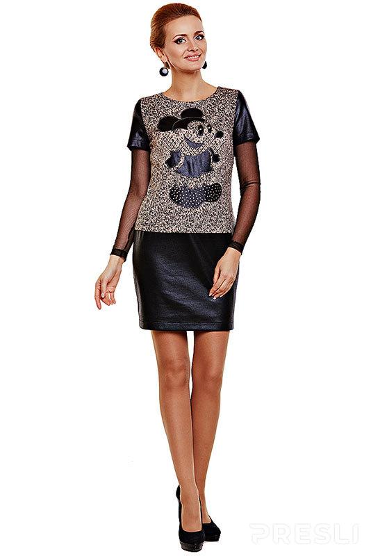 Платье Lady Secret 3151/1 черный с серым