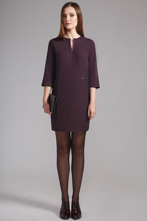 Купить Платье Anna Majewska 1046 темный фиолет, Платья, 1046, темный фиолет, ПЭ-80%, Вискоза-20%, Мультисезон