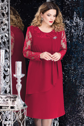 Купить со скидкой Платье LeNata 11975 марсала