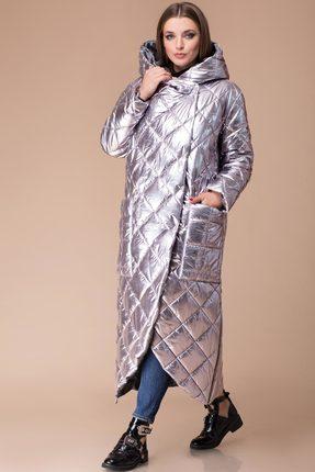 Купить Пальто Svetlana Style 1124 серебро, Пальто, 1124, серебро, Ткань стеганая на синтепоне Состав изделия и подкладки: ПЭ 100%, Мультисезон