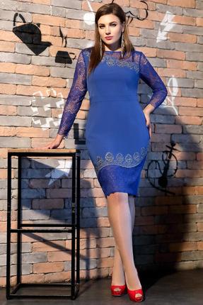 Купить Платье Мублиз 307 василек, Платья, 307, василек, вискоза 30%, пэ 64%, спандекс 6%, Мультисезон