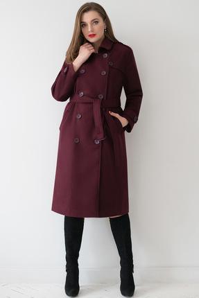 Пальто ЮРС 18-895-2 бордо с фиолетом ЮРС