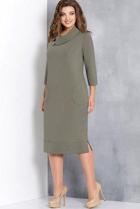 Купить Платье Olga Style с582 хаки, Платья, с582, хаки, вискоза 66%, пэ 32%, спандекс 2%, Мультисезон