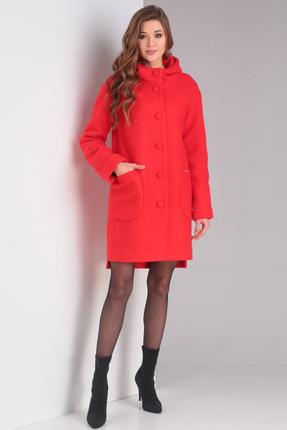Пальто Диамант 1370 красный