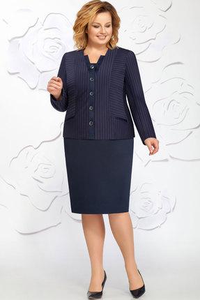 Купить Комплект юбочный Ivelta plus 2454 синий, Юбочные, 2454, синий, Жакет - 67% вискоза, 26% полиамид, 5% спандекс, 2 %пэ Юбка - 100% п/э, Мультисезон