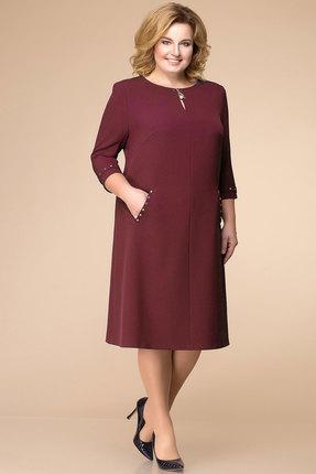 Купить Платье Romanovich style 1-1729 бордо, Платья, 1-1729, бордо, 97% ПЭ, 3% спандекс, Мультисезон