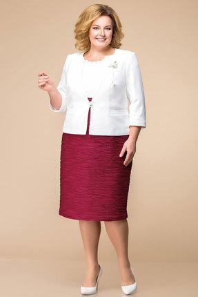Купить со скидкой Комплект плательный Romanovich style 3-979 белый с бордо