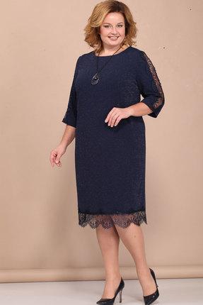 Купить Платье Bonna Image 382 тёмно-синий, Повседневные платья, 382, тёмно-синий, 62% Вискоза, 33% ПЭ, 5% Спандекс, Мультисезон