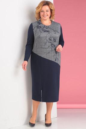 Купить Платье Новелла Шарм 3121 синий, Платья, 3121, синий, трикотаж (П/Э 17%, ВИСКОЗА 81%, СПАНДЕКС 2%), Мультисезон
