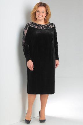 Купить Платье Новелла Шарм 3136 черный, Платья, 3136, черный, бархат, кружево, Мультисезон