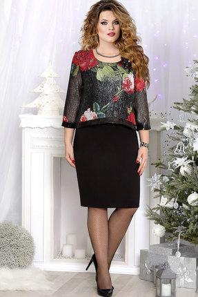 Купить Платье Mira Fashion 4534 чёрный, Платья, 4534, чёрный, ПЭ - 100%, Мультисезон