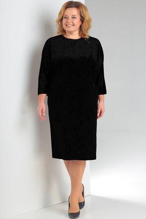 Купить Платье Новелла Шарм 3148 черный, Вечерние платья, 3148, черный, бархат, кружево (пэ 97%, спандекс 3%), Мультисезон