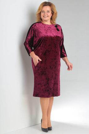 Купить Платье Новелла Шарм 3148-3 бордо, Платья, 3148-3, бордо, бархат, кружево (пэ 97%, спандекс 3%), Мультисезон