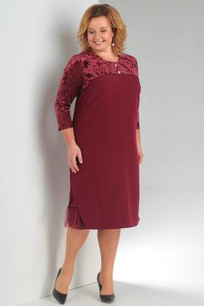 Купить Платье Новелла Шарм 3149 бордо, Платья, 3149, бордо, бархат, плательная ткань (пэ 97%, спандекс 3%), Мультисезон
