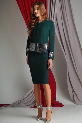 Купить Комплект юбочный Axxa 26090а зеленый, Юбочные, 26090а, зеленый, п/э 71%, вискоза 23%, спандекс 6%, Мультисезон