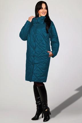 Купить Пальто Миа Мода 846-7 морская волна, Пальто, 846-7, морская волна, ПЭ 100%, уникальный утеплитель ISOSOFT(Бельгия) Подкладка ПЭ 100%, Мультисезон