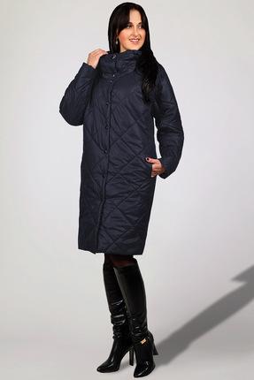 Купить Пальто Миа Мода 846-6 темно-синий, Пальто, 846-6, темно-синий, ПЭ 100%, уникальный утеплитель ISOSOFT(Бельгия) Подкладка ПЭ 100%, Мультисезон
