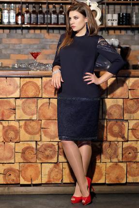 Платье Мублиз 306 темно-синий ...