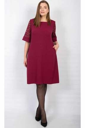 Купить Платье TricoTex Style 1857 бордо, Платья, 1857, бордо, 68 % вискоза, 28 % ПЭ, 4 % спандекс, Мультисезон
