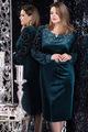 Платье LeNata 11966-1 изумруд, размер 50-60