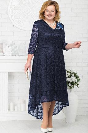 Купить Платье Ninele 5678 тёмно-синий, Вечерние платья, 5678, тёмно-синий, Кружево - ПЭ-100%, подкладка (атлас) - полиэстер 95%, спандекс 5%, Мультисезон