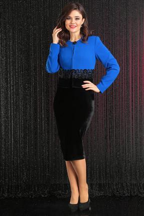Купить со скидкой Комплект плательный Мода-Юрс 2442 василек + черный