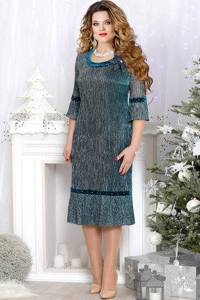 Купить Платье Mira Fashion 4530 бирюзовый, Платья, 4530, бирюзовый, ПЭ - 100%, Мультисезон