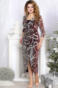 Платье Mira Fashion 4535-2 бордовый