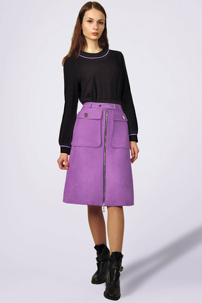 Комплект юбочный Миа Мода 965 черный с сиреневым