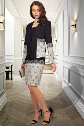 Комплект плательный Миа Мода 973 черно-белый