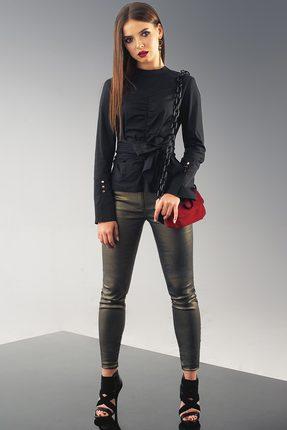 Купить Блузка Deesses R-005 черный, Блузки, R-005, черный, Хлопок 97%+Спандекс 3%, Мультисезон