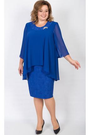 Купить Платье TricoTex Style 104-17 василек, Платья, 104-17, василек, 70% п/э, 25% вискоза, 5% спандекс, Мультисезон