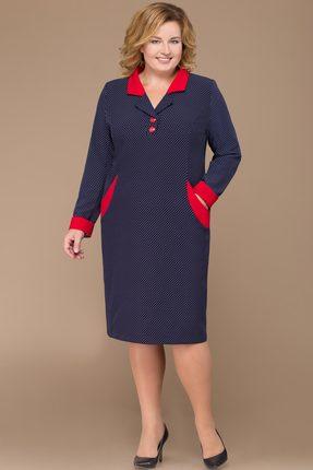 Платье Svetlana Style 1132 синий с красным