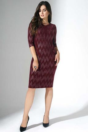 Купить Платье Erika Style 710-10 бордо, Платья, 710-10, бордо, вискоза 72%, ПЭ 25%, спандекс 3%, Мультисезон