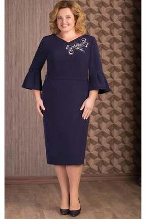 Купить Платье Aira Style 652 синий, Платья, 652, синий, плательная ткань (95% пэ, 5% спандекс), Мультисезон