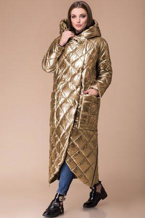 Купить Пальто Svetlana Style 1124 золотой, Пальто, 1124, золотой, Ткань стеганая на синтепоне Состав изделия и подкладки: ПЭ 100%, Мультисезон