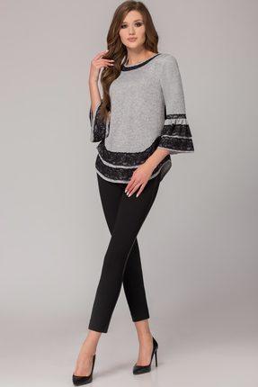 Комплект брючный Svetlana Style 1100 серый с черным
