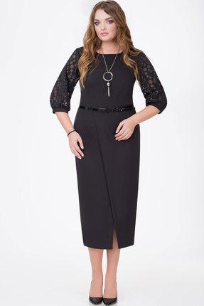 Купить Платье Bonna Image 377 чёрный, Платья, 377, чёрный, 71% ПЭ, 24% Вискоза, 5% Спандекс, Мультисезон