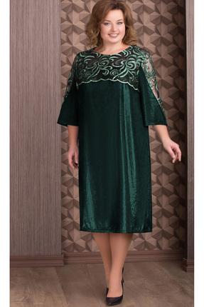 Купить Платье Aira Style 656 зеленый, Платья, 656, зеленый, бархат (пэ 95%, спандекс 5%), Мультисезон