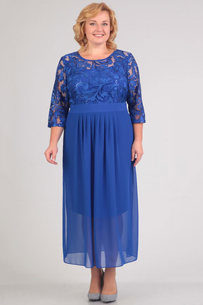 Купить Платье TricoTex Style 108-17 василек, Платья, 108-17, василек, 70% п/э, 25% вискоза, 5% спандекс, Мультисезон