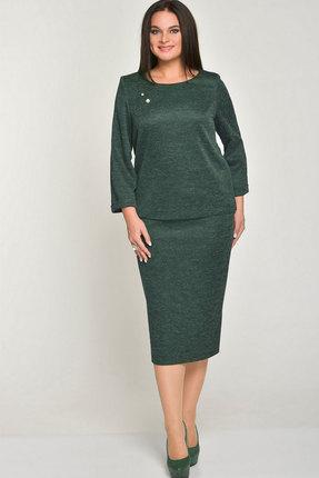 Купить Комплект юбочный Elga 22-518 зелёный, Юбочные, 22-518, зелёный, 72% Вискоза 25% ПЭ 3% Спандекс, Мультисезон