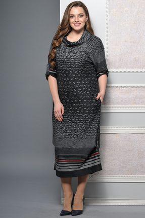 Купить Платье Lady Style Classic 1233-1 черный, Платья, 1233-1, черный, ПЭ 62%+Вискоза 38%, Мультисезон