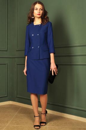 Купить Комплект юбочный Миа Мода 978 синий, Юбочные, 978, синий, ПЭ 80%, вискоза 15%, спандекс 5% Подкладка ПЭ 100%, Мультисезон