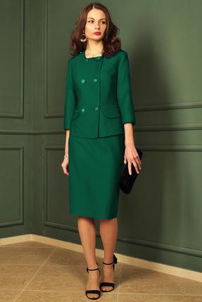 Купить Комплект юбочный Миа Мода 978-1 зеленый, Юбочные, 978-1, зеленый, ПЭ 80%, вискоза 15%, спандекс 5% Подкладка ПЭ 100%, Мультисезон