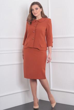 Купить Комплект юбочный Milana 985 красные тона, Юбочные, 985, красные тона, Материал костюма: Костюмно-плательная со стрейчем (зара) Состав: ПЭ-44%, спандекс-3%, вискоза - 53%., Мультисезон