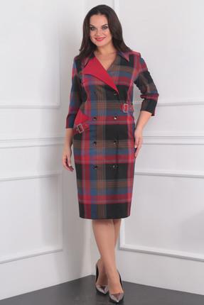 Купить Платье Milana 983 красно синий, Платья, 983, красно синий, Костюмно-плательная Состав: ПЭ-68%, вискоза-30%, спандекс-2%, Мультисезон