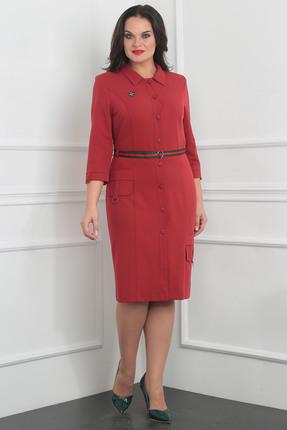 Купить Платье Milana 977 красные тона, Платья, 977, красные тона, Костюмно-плательная со стрейчем. Состав: ПЭ-74%, вискоза-21%, спандекс-5%, Мультисезон